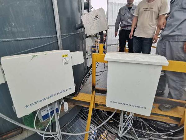 氨逃逸在线监测系统现场安装-宏瑞德客户案例